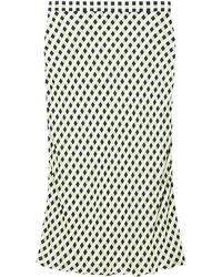 PROENZA SCHOULER WHITE LABEL スリップスカート - グリーン