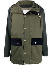 Mackintosh Panelled Hooded Parka - Green