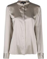 Theory Silk-blend Shirt - Grey