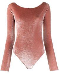 Oséree Body con corte slim y espalda descubierta - Rosa