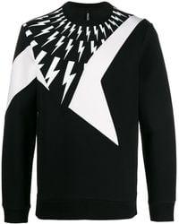 Neil Barrett Thunder Print Sweatshirt - Black