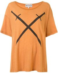 Wildfox Sword-print T-shirt - Orange