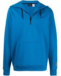 PS by Paul Smith Half-zip Hoodie - Blue
