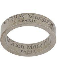Maison Margiela Кольцо С Гравировкой Логотипа - Металлик