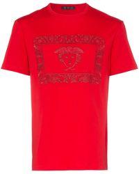 Versace メデューサ Tシャツ - レッド