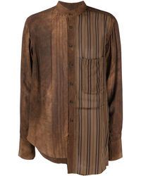 Ziggy Chen ボタンシャツ - ブラウン