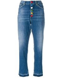Dondup Taillenhohe Cropped-Jeans - Blau