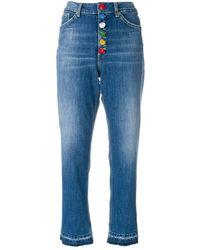 Dondup High-waist cropped jeans - Bleu