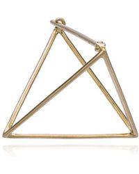 Shihara Серьга В Форме Треугольника С Гранью 25 Мм - Многоцветный