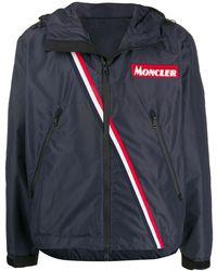 Moncler Stripe Detail Sports Jacket - Blauw
