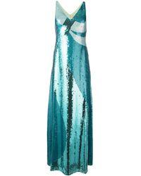 Emilio Pucci Вечернее Платье С Пайетками - Синий