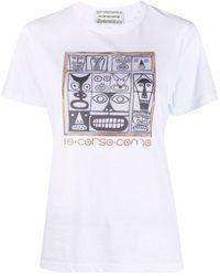 10 Corso Como プリント Tシャツ - ホワイト