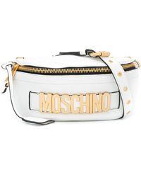 Moschino Heuptas Met Logoplakkaat - Wit