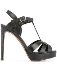 Lola Cruz Platform Stiletto Heels - Black