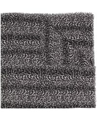 Saint Laurent Leopard-print Scarf - Black