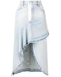 Off-White c/o Virgil Abloh - Asymmetric Denim Skirt - Lyst