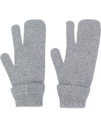 Maison Margiela Перчатки С Тремя Пальцами - Серый