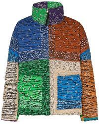 Children of the discordance Bandana-print Reversible Padded Jacket - Orange