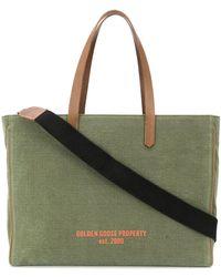 Golden Goose Deluxe Brand ロゴプリント ハンドバッグ - グリーン