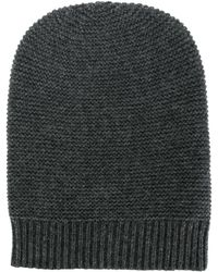 N.Peal Cashmere カシミア ビーニー - グレー