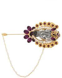 Dolce & Gabbana - Embellished Zebra Brooche - Lyst