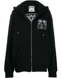 Moschino Logo Zip-up Sweatshirt - Черный