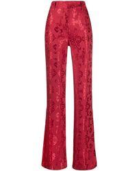 Ann Demeulemeester Pantalones Daphne - Rojo