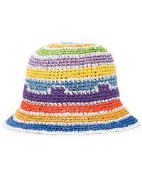Missoni Logo Plaque Woven Bucket Hat - Purple