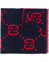 Gucci - GG Monogram Scarf - Lyst