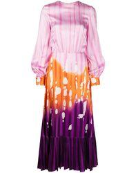 Stella Jean Tie-dye Midi Dress - Pink