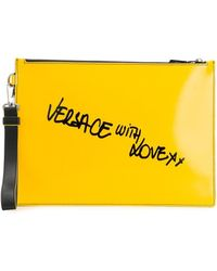 Versace With Love Clutch - Yellow