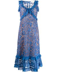 MICHAEL Michael Kors ラッフル レースドレス - ブルー
