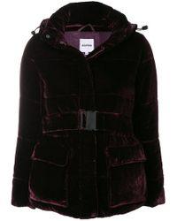Aspesi Velvet Belted Jacket - Black