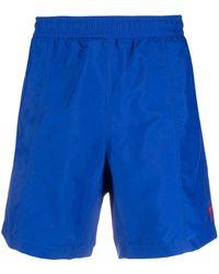 AMI Плавки Шорты С Вышитым Логотипом - Синий