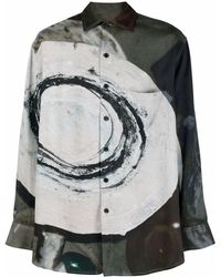 Song For The Mute Camisa con estampado abstracto - Gris