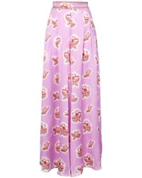 Peter Pilotto - Floral Print Wide Leg Trousers - Lyst