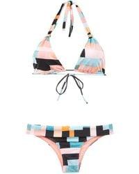 Brigitte Bardot - Printed Bikini Set - Lyst