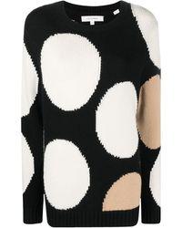 Chinti & Parker Large Dot Pattern Jumper - Black