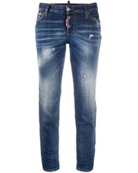 DSquared² - Distressed Low-rise Jeans - Lyst