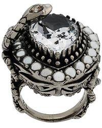 Alexander McQueen - Drop Ring - Lyst