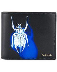 Paul Smith Portemonnee Met Logo - Zwart