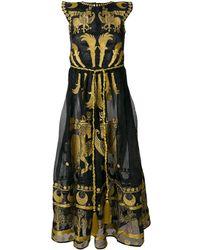 Yuliya Magdych Day Spring Horse Organza Dress - Black