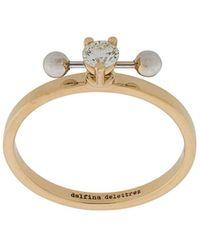 Delfina Delettrez Two In One Diamanten Ring Van 18kt Geel En Wit Goud - Metallic