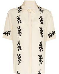 Matteau Leaf-print Short-sleeve Shirt - Multicolour