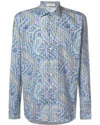 Etro Printed Button Shirt - Синий