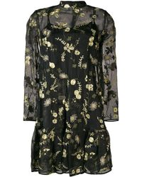 Erdem Cosima Layered Mini Dress - ブラック