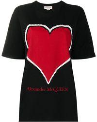 Alexander McQueen Футболка С Логотипом - Черный