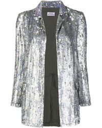 P.A.R.O.S.H. Sequinned Open-front Blazer - Metallic