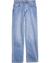 Burberry Straight Fit Steewashed Jeans - Blauw