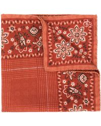 Canali All-over Print Handkerchief - Brown